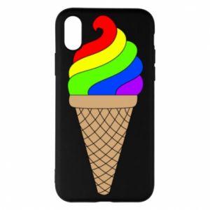 Etui na iPhone X/Xs Rainbow Ice Cream