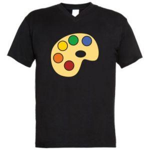 Men's V-neck t-shirt Rainbow palette - PrintSalon