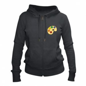 Women's zip up hoodies Rainbow palette - PrintSalon