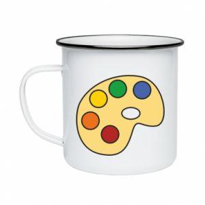 Kubek emaliowany Rainbow palette