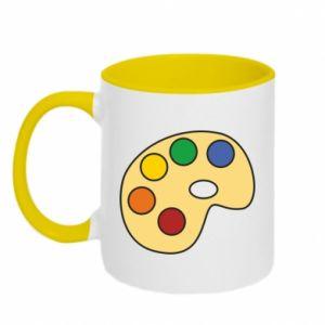 Two-toned mug Rainbow palette - PrintSalon