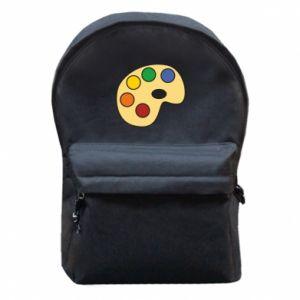 Plecak z przednią kieszenią Rainbow palette