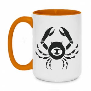 Two-toned mug 450ml Cancer and sign to the Cancer