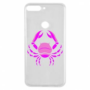 Phone case for Huawei Y7 Prime 2018 Cancer blue or pink