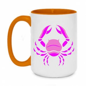 Two-toned mug 450ml Cancer blue or pink