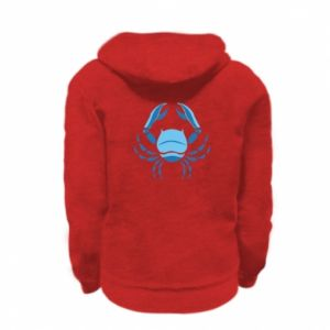 Kid's zipped hoodie % print% Cancer blue or pink