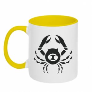 Two-toned mug Cancer and sign to the Cancer