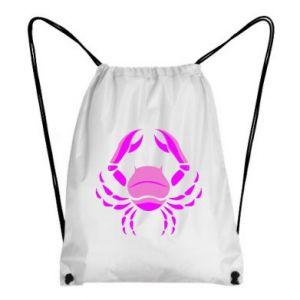 Plecak-worek Rak niebieski lub różowy - PrintSalon