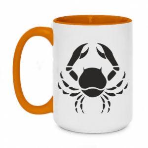Two-toned mug 450ml Cancer