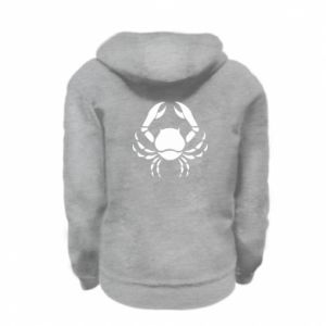 Kid's zipped hoodie % print% Cancer