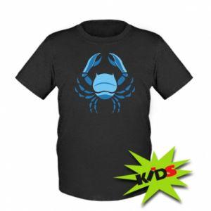 Dziecięcy T-shirt Rak niebieski lub różowy - PrintSalon