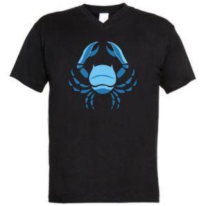 Męska koszulka V-neck Rak niebieski lub różowy - PrintSalon