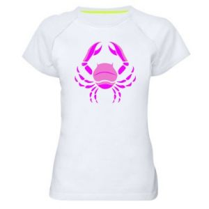 Damska koszulka sportowa Rak niebieski lub różowy - PrintSalon