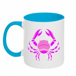 Two-toned mug Cancer blue or pink