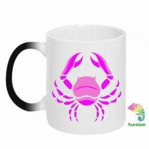Kubek-kameleon Rak niebieski lub różowy - PrintSalon