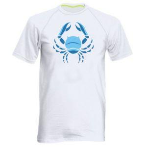 Męska koszulka sportowa Rak niebieski lub różowy - PrintSalon