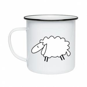Enameled mug Sleepy ram