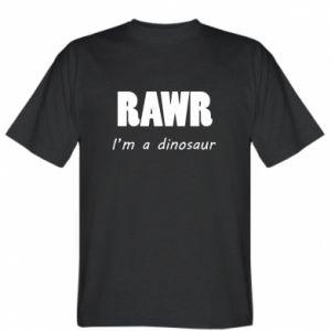 Koszulka męska Rawr. I'm a dinosaur