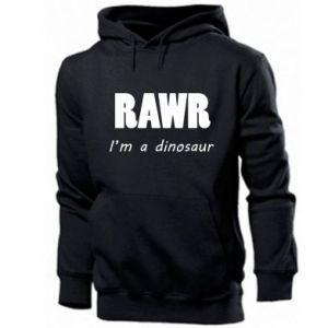 Męska bluza z kapturem Rawr. I'm a dinosaur