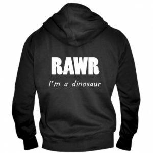 Męska bluza z kapturem na zamek Rawr. I'm a dinosaur
