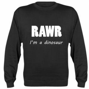 Bluza (raglan) Rawr. I'm a dinosaur