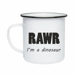 Kubek emaliowany Rawr. I'm a dinosaur