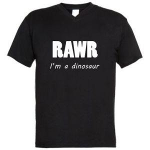 Męska koszulka V-neck Rawr. I'm a dinosaur