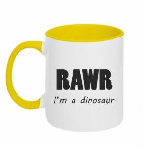 Kubek dwukolorowy Rawr. I'm a dinosaur