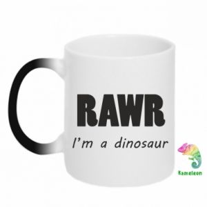 Kubek-kameleon Rawr. I'm a dinosaur