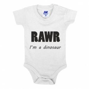 Body dziecięce Rawr. I'm a dinosaur