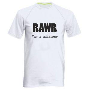 Męska koszulka sportowa Rawr. I'm a dinosaur
