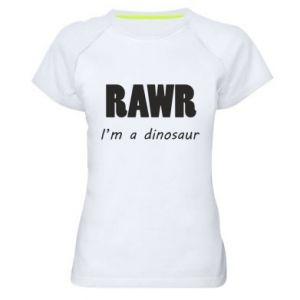 Damska koszulka sportowa Rawr. I'm a dinosaur