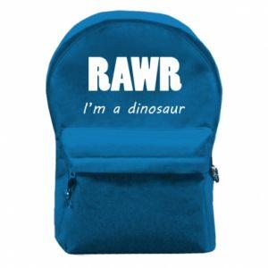 Plecak z przednią kieszenią Rawr. I'm a dinosaur
