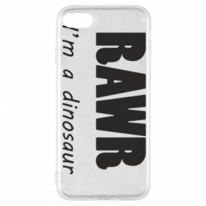 Etui na iPhone 8 Rawr. I'm a dinosaur