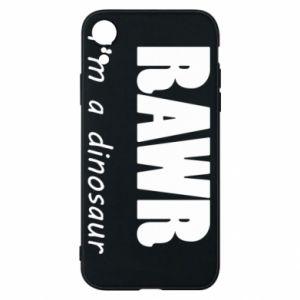 Etui na iPhone XR Rawr. I'm a dinosaur