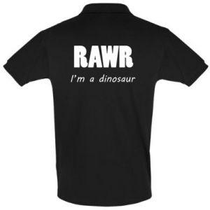 Koszulka Polo Rawr. I'm a dinosaur