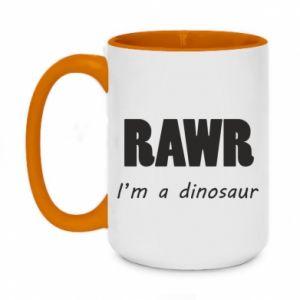 Kubek dwukolorowy 450ml Rawr. I'm a dinosaur