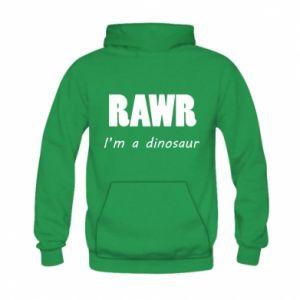 Bluza z kapturem dziecięca Rawr. I'm a dinosaur