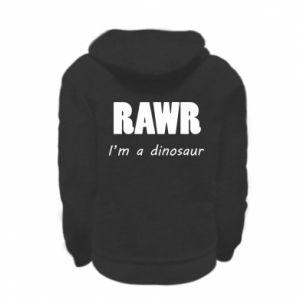 Bluza na zamek dziecięca Rawr. I'm a dinosaur