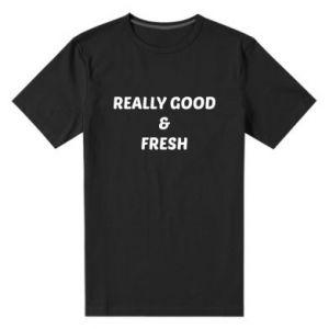 Męska premium koszulka Really good and fresh