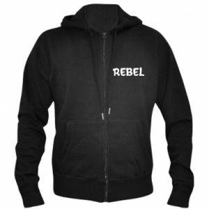 Męska bluza z kapturem na zamek Rebel