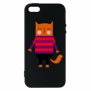 Phone case for iPhone 5/5S/SE Red cat in a sweater - PrintSalon
