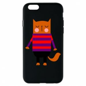 Phone case for iPhone 6/6S Red cat in a sweater - PrintSalon