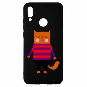 Etui na Huawei P Smart 2019 Red cat in a sweater