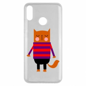 Etui na Huawei Y9 2019 Red cat in a sweater