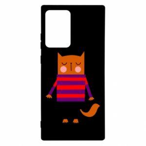 Etui na Samsung Note 20 Ultra Red cat in a sweater
