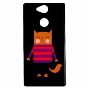 Etui na Sony Xperia XA2 Red cat in a sweater