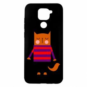 Etui na Xiaomi Redmi Note 9/Redmi 10X Red cat in a sweater