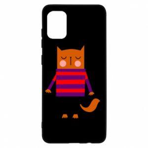 Etui na Samsung A31 Red cat in a sweater