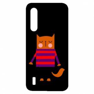 Etui na Xiaomi Mi9 Lite Red cat in a sweater